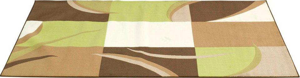 Teppich »Karo Stripes«, Hanse Home, rechteckig, Höhe 9 mm in beige-grün