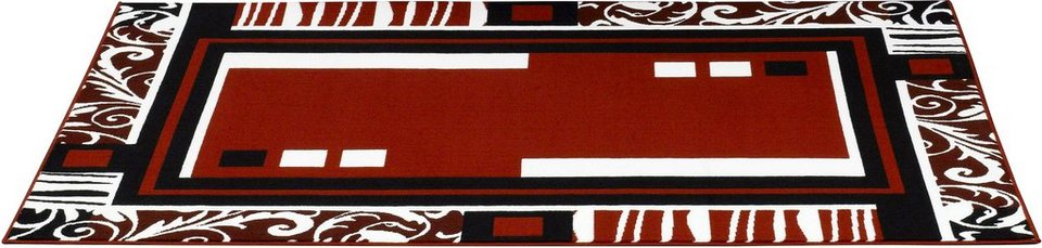 Design-Teppich, Hanse Home, »Floral Bordüre Retro«,gewebt, modern in Rot