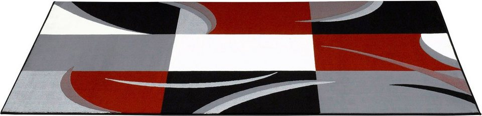 Teppich, Hanse Home, »Karo Stripes«, Patchwork, modern in Grau Rot