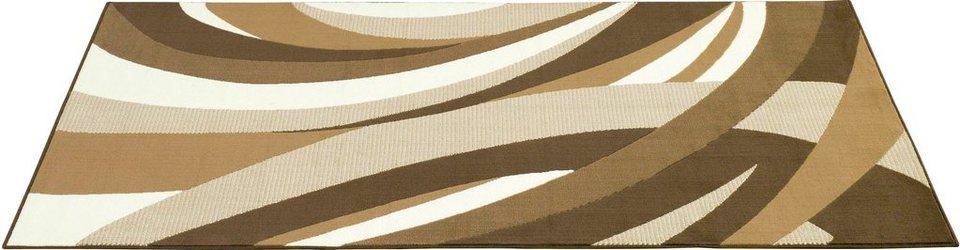 Design-Teppich, Hanse Home, »Curves Kurven«, gemustert, gewebt, modern in Braun Beige
