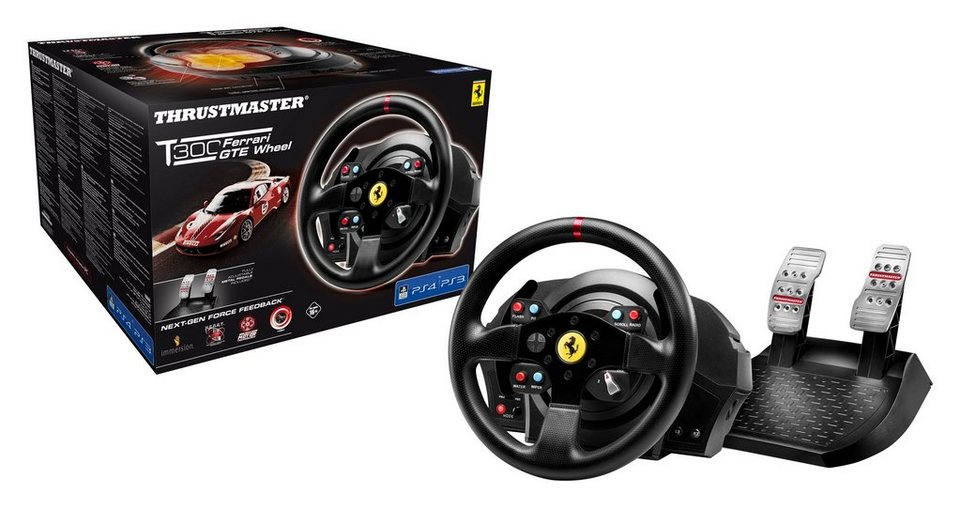 Thrustmaster Lenkrad T300 Ferrari GTE Wheel »(PS4 PS3 PC)«