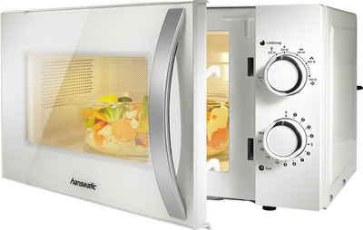 Hanseatic Mikrowelle 678906, Mikrowelle, 20 l, Auftaufunktion, weiß