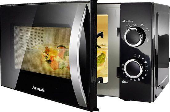 Hanseatic Mikrowelle 76409986, 20 l, Auftaufunktion, schwarz