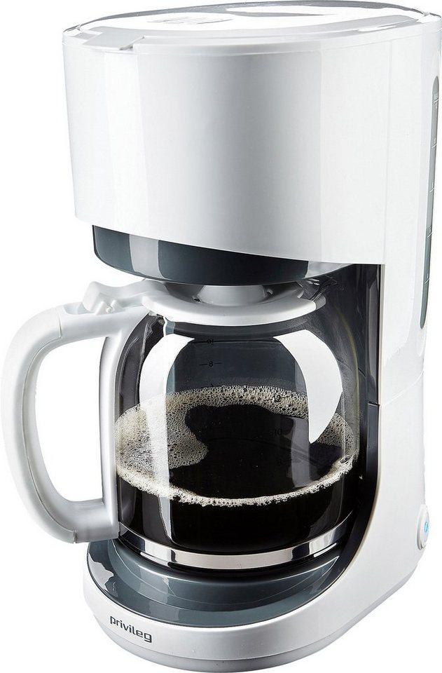 Privileg Kaffeemaschine, für 1,5 Liter, 900 Watt, weiss/grau in weiß