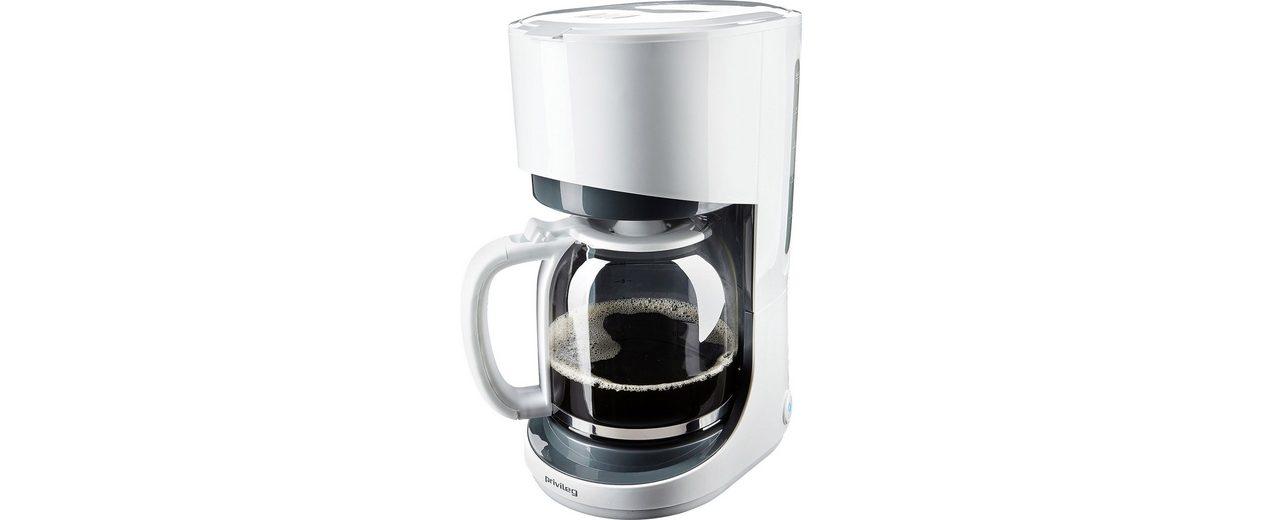 Privileg Kaffeemaschine, für 1,5 Liter, 900 Watt, weiss/grau