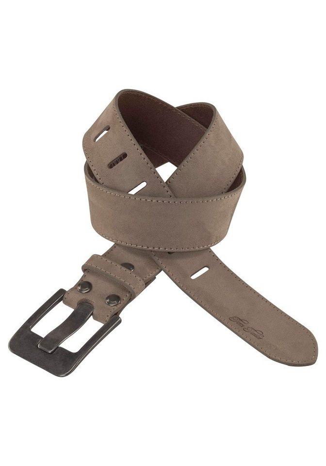 15a5263aa81c5c Tom Tailor Ledergürtel mit Logo Prägung auf der Spitze, Gürtelschnalle mit  breitem Dorn online kaufen   OTTO