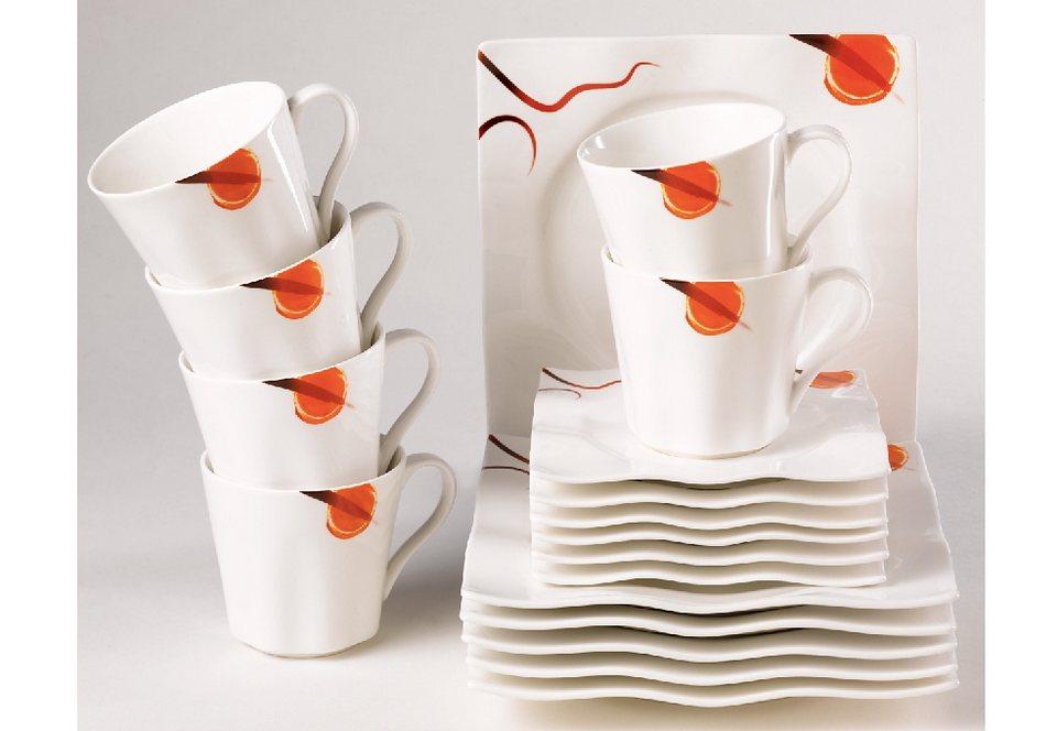 Porzellan-Serie, »Palladium« in weiß mit rotem Dekor