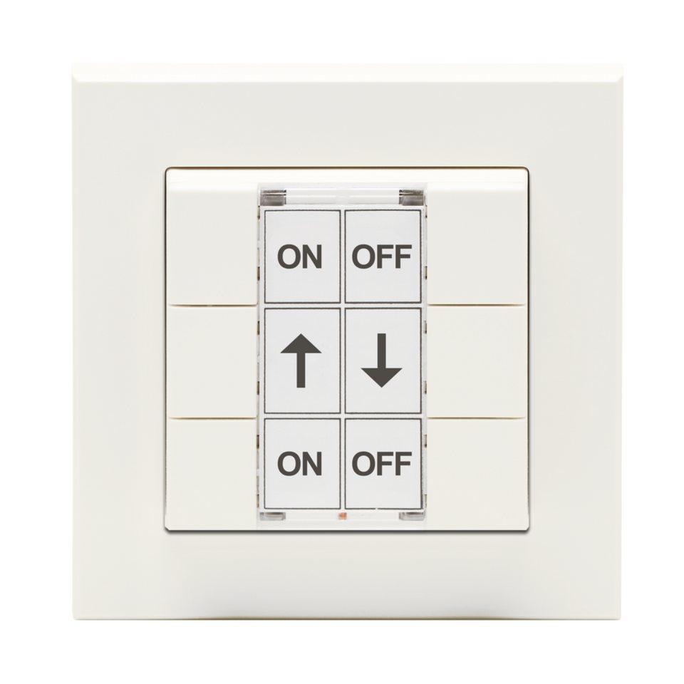 eQ-3 Wandsender »Funk-Wandtaster 6-fach mit Rahmen und Wippe« in Weiß