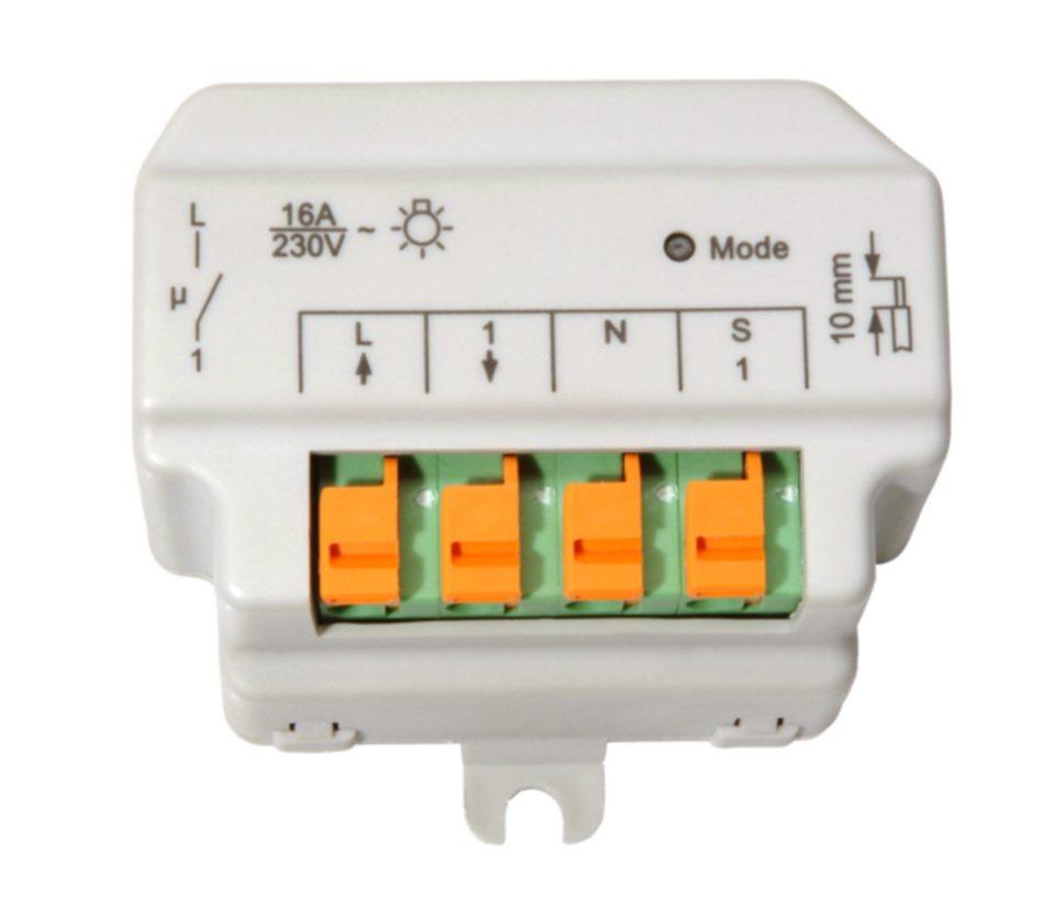 eQ-3 Smart Home Zubehör »Funk-Schaltaktor 1-fach, Unterputz« in Weiß