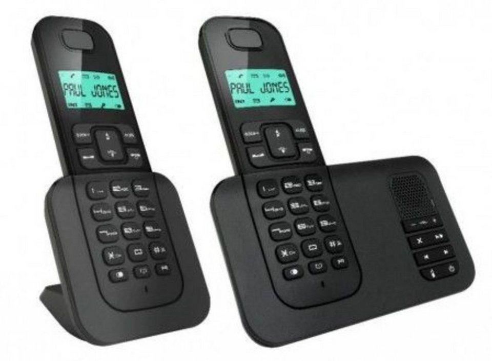 AEG Telefon analog schnurlos »Voxtel D505 Twin« in Schwarz