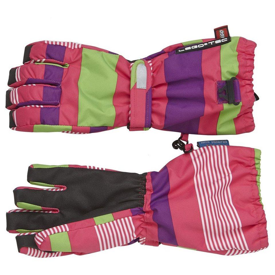 LEGO Wear Handschuhe Albertine Fan-Tex Membran LEGO® TEC 8.000 mm Wassers in pink