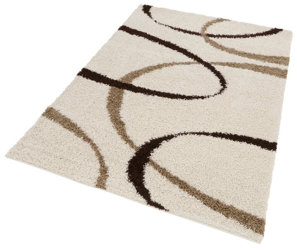 Hochflor-Teppich, my home, »Vigo«, Höhe 30 mm, gewebt in natur
