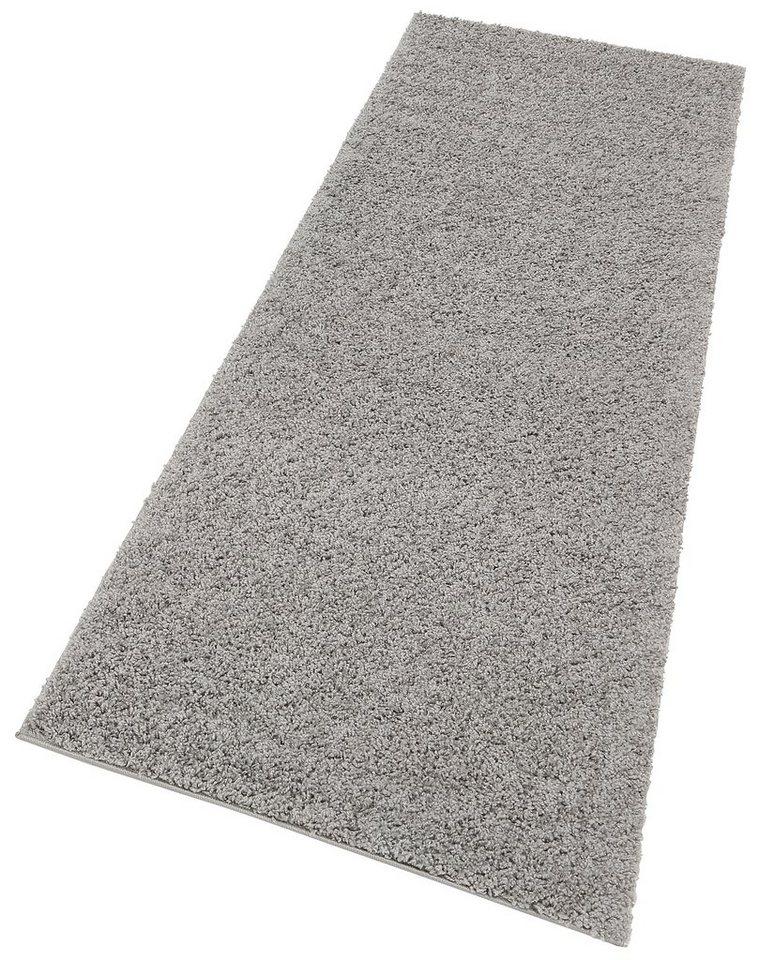 Hochflor-Läufer, my home, »Bodrum«, Höhe 30 mm, gewebt in grau