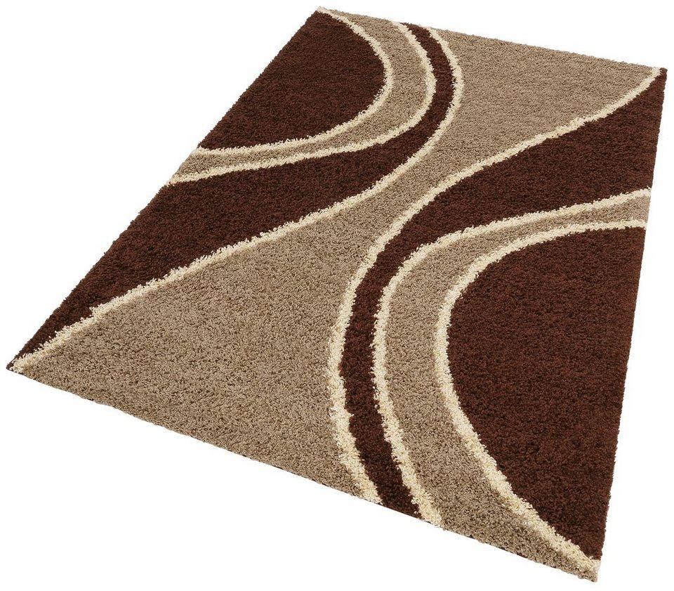 Hochflor-Teppich, my home, »Elisa«, Höhe 30mm, gewebt in braun