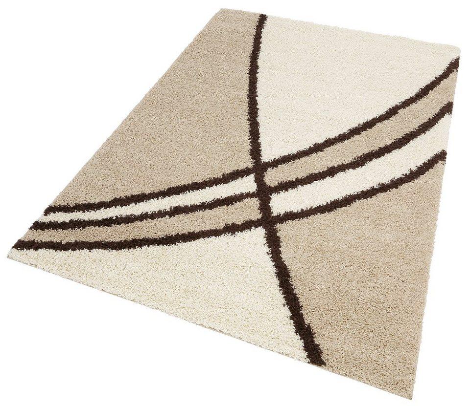 Hochflor-Teppich, my home, »Alessandria«, Höhe 30 mm, gewebt in beige
