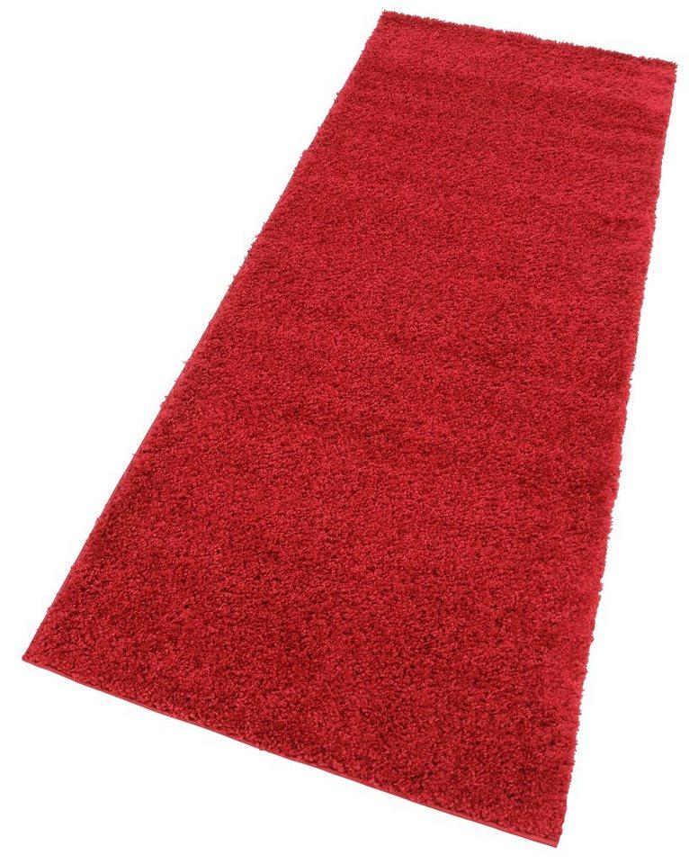 Hochflor-Läufer, my home, »Bodrum«, Höhe 30 mm, gewebt in rot