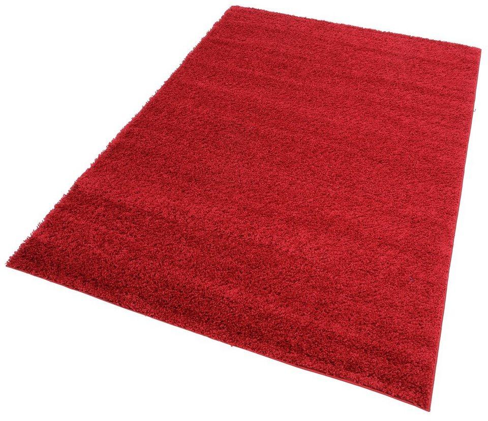 Hochflor-Teppich, my home, »Bodrum«, Höhe 30 mm, gewebt in rot