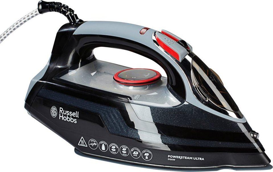 Russell Hobbs Bügeleisen »Power Steam Ultra« 20630-56, Keramiksohle, 3100 Watt in schwarz/grau/silber/rot