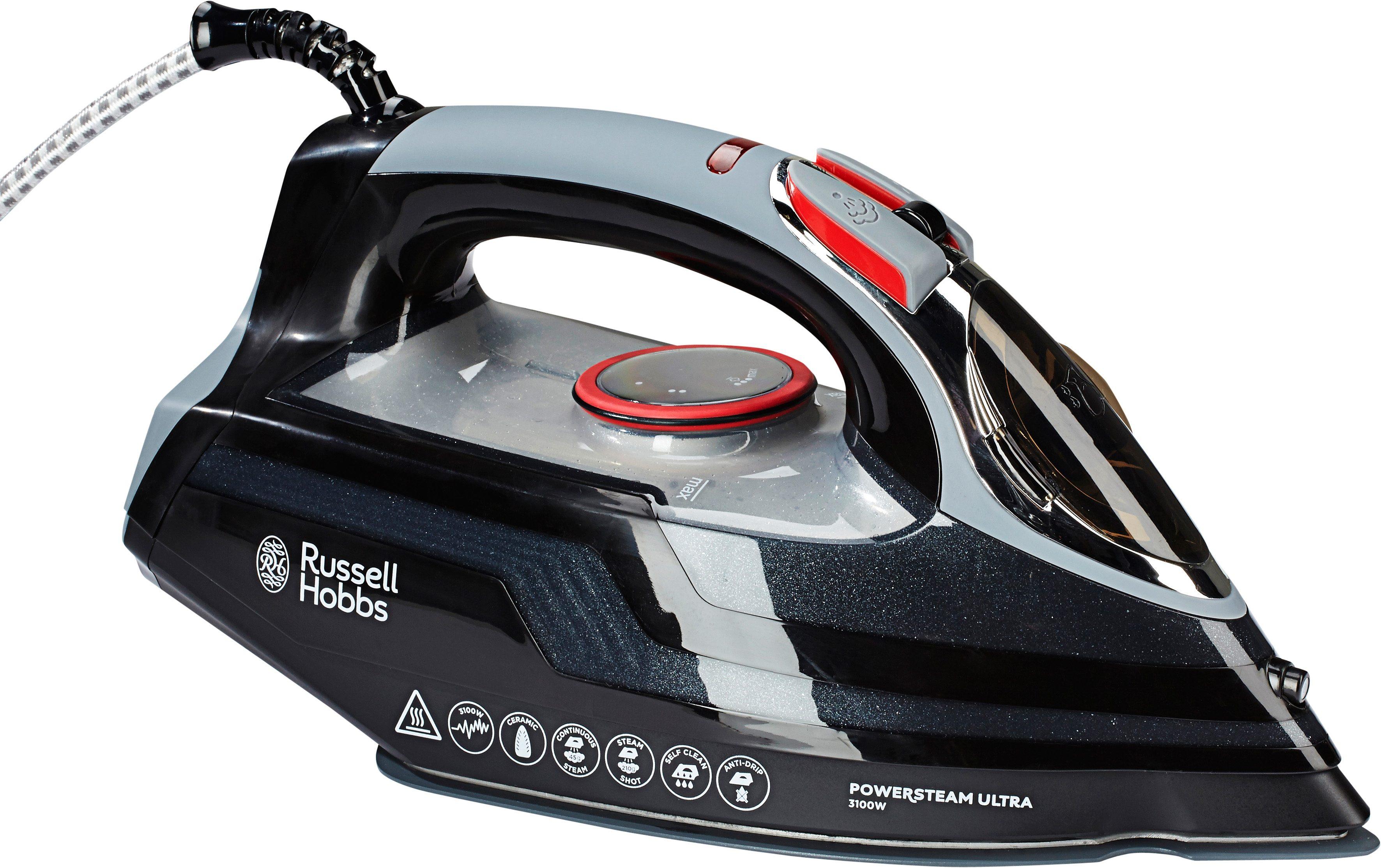 Russell Hobbs Bügeleisen »Power Steam Ultra« 20630-56, Keramiksohle, 3100 Watt