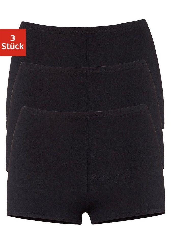 GO IN Panty mit angeschnittenen Beinen (3 Stück) in 3x schwarz