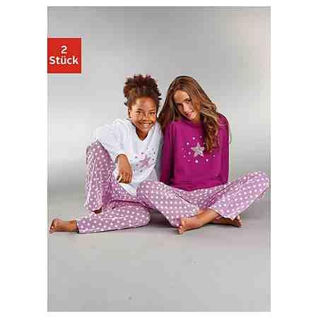 Petite Fleur, Pyjama (2 Stück), unsere Stars - modischer Sternendruck auf den Shirts und Hosen