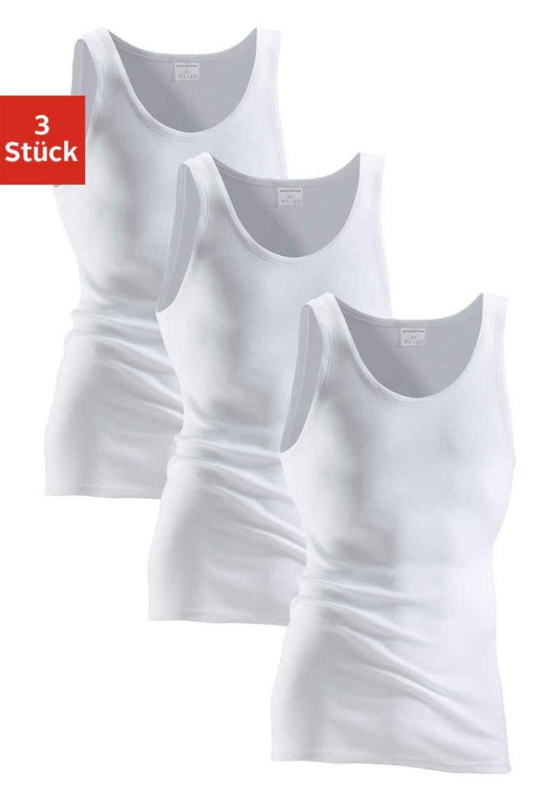 Schiesser Unterhemd (3 Stück), schlichtes Basic-Unterhemd in Top-Markenqualität