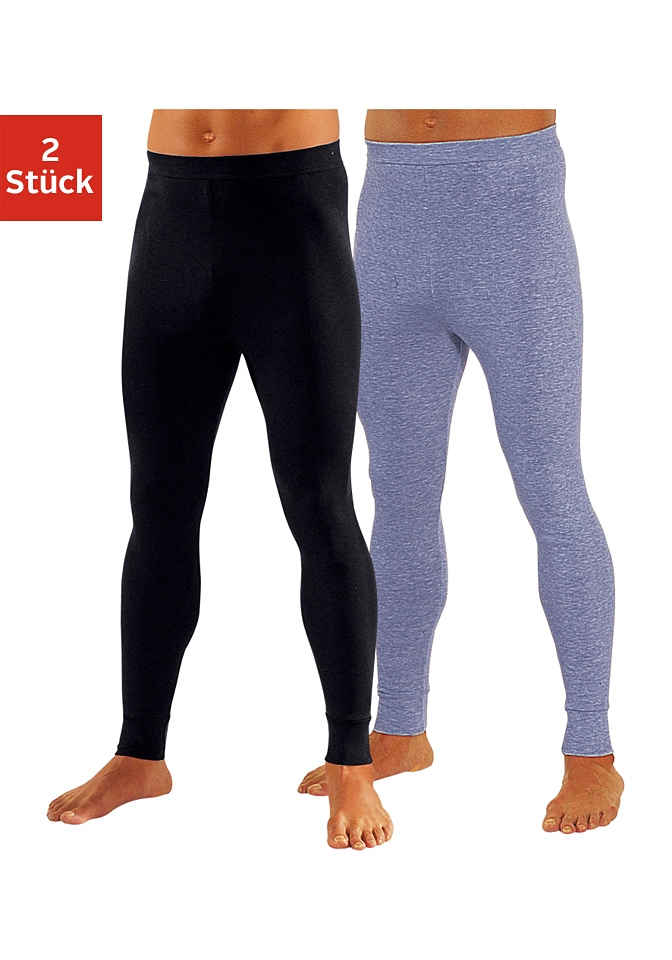 Clipper Lange Unterhose (2 Stück) aus weichem Single Jersey