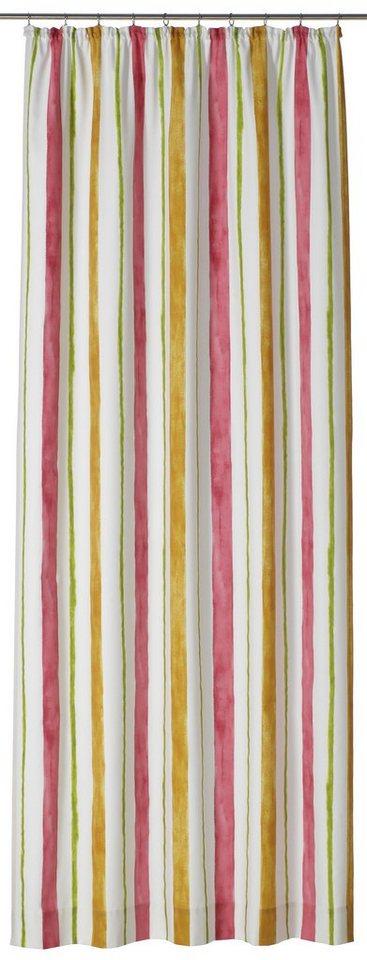 Vorhang, Gardisette, »Mona« (1 Stück) in gelb/ rot