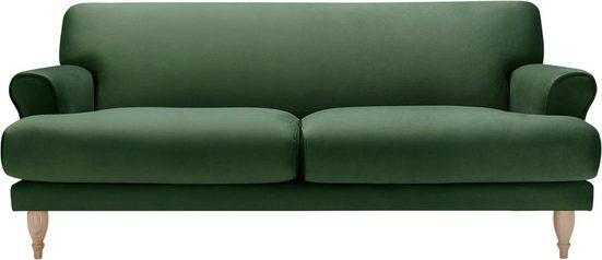 LOVI Sofa »Ginger«, 2-Sitzer, Füße in Eiche natur, Sitzunterfederung mit Dynaflex Polsterunterlage, Hightech-Gewebe mit hoher Dimensionsstabilität