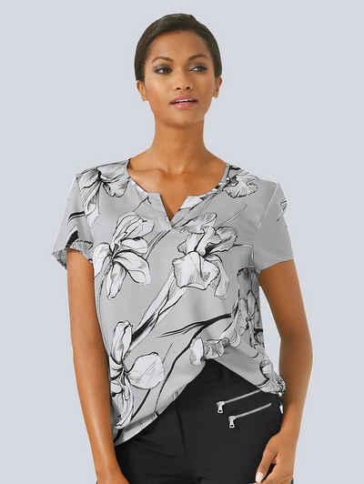 Alba Moda Blusenshirt mit effektvollem Blumenprint