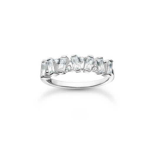 THOMAS SABO Fingerring »TR2346-051-14 Ring Damen Weiße Steine Silber Gr. 50«