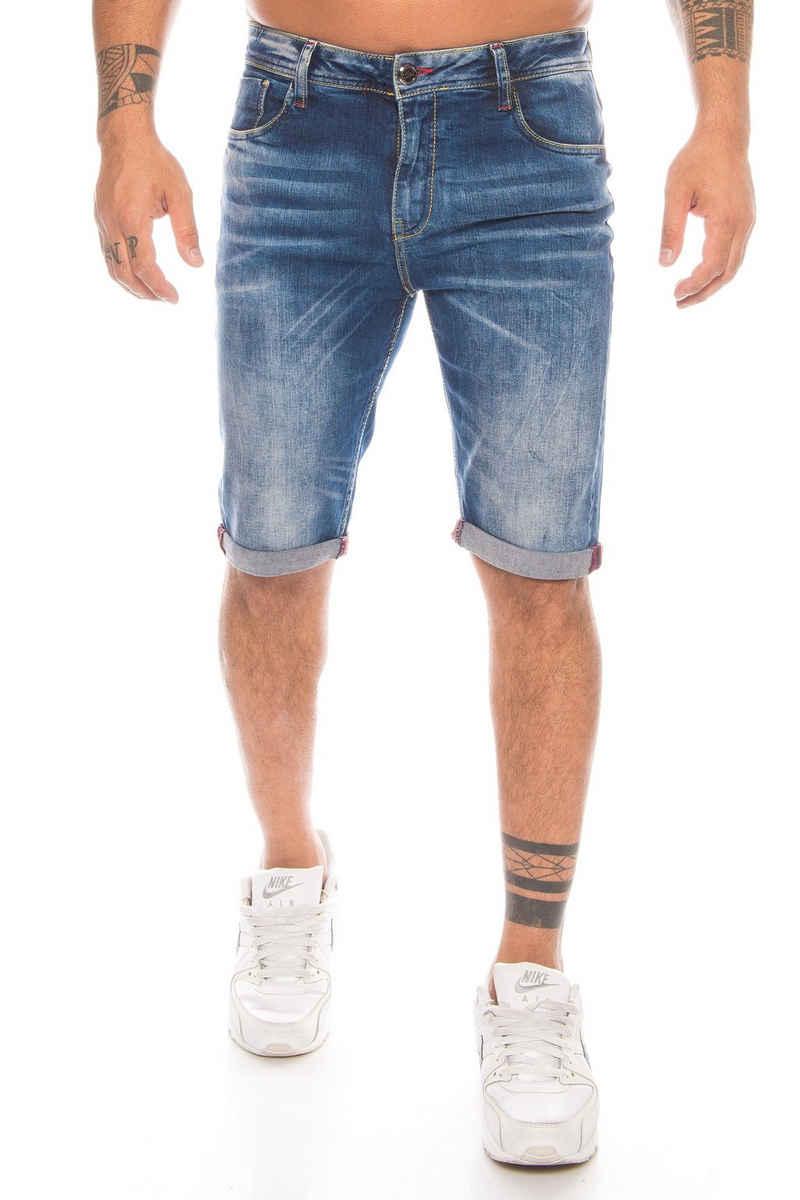 Cipo & Baxx Caprijeans »Herren Capri Denim Jeans Short kurze Hose« Modische Akzente und Stretchanteil