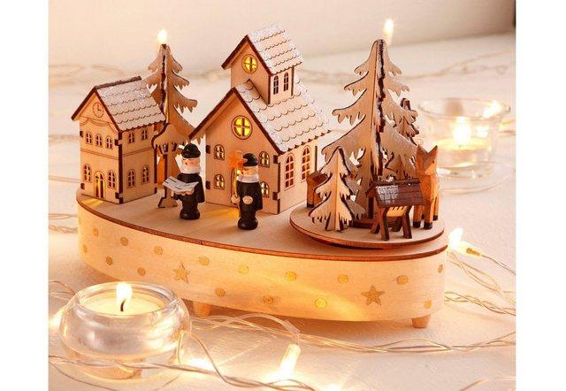 Home affaire Spieluhr »Weihnachtsdorf«, mit Musikwerk | Kinderzimmer > Spielzeuge > Spieluhren | home affaire