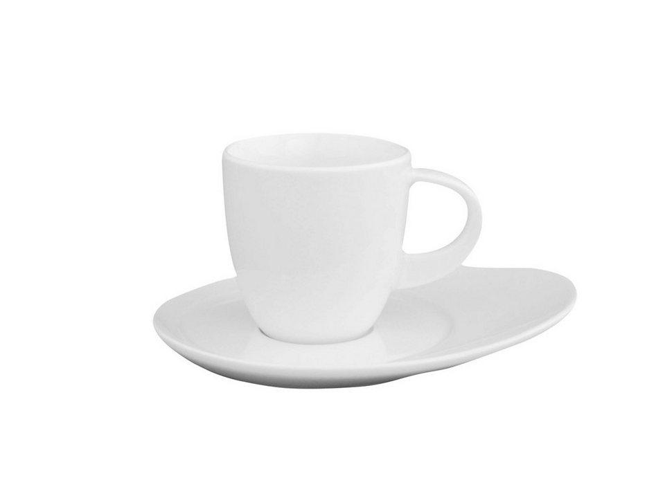 Eschenbach Set: Espressobertasse mit Untertasse »Universo« in Weiß