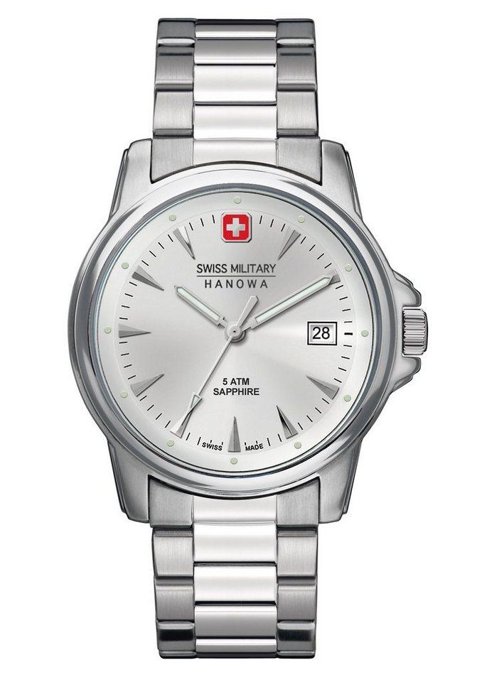"""Swiss Military Hanowa, Armbanduhr, """"SWISS RECRUIT PRIME, 6-5230.04.001"""" in silberfarben"""