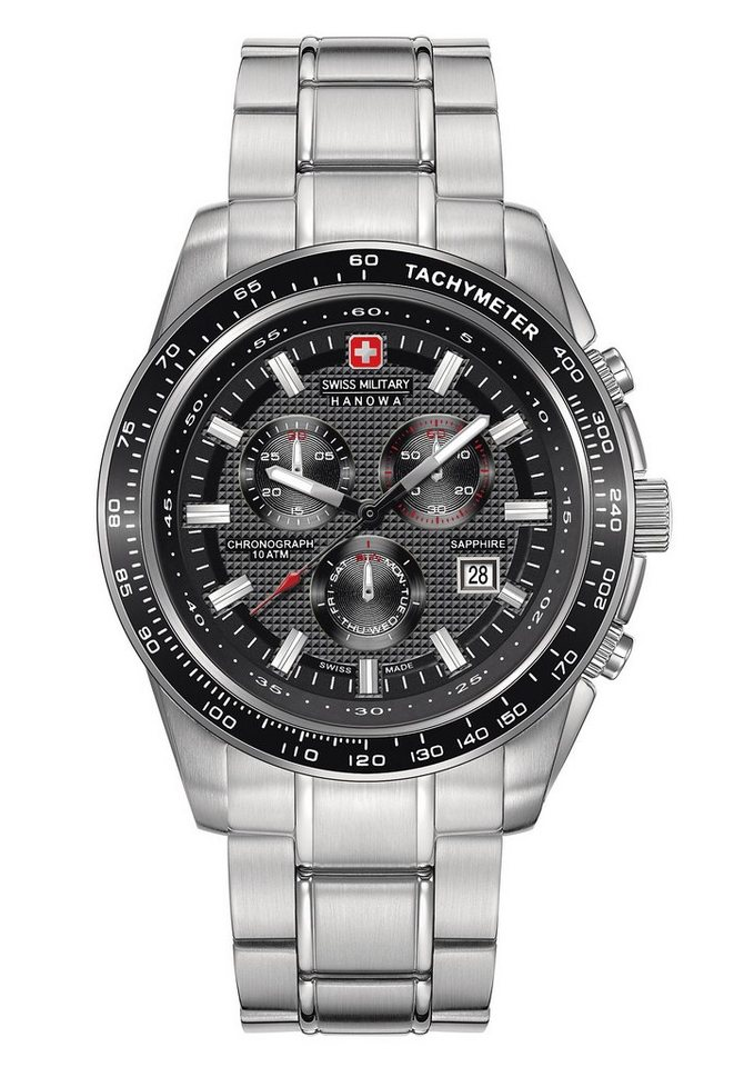 "Swiss Military Hanowa, Chronograph, ""CRUSADER CHRONO, 6-5225.04.007"" in silberfarben"