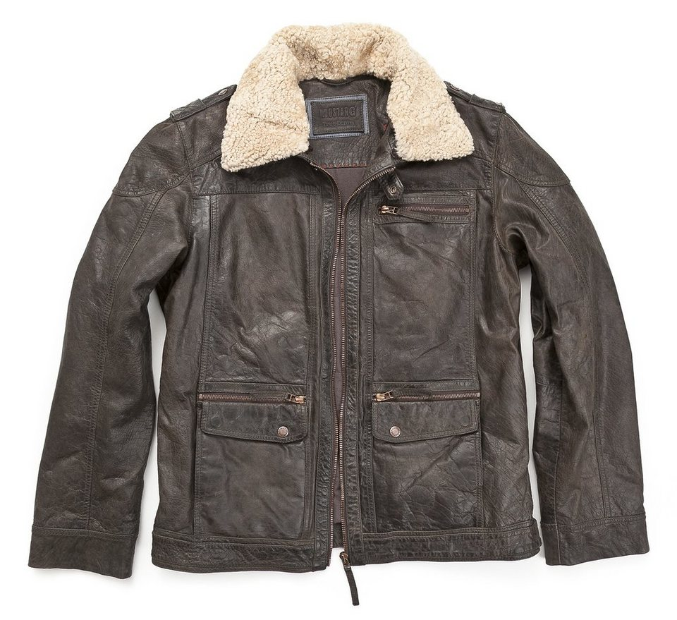 Mustang Lederjacke, Herren »Hunter« in brown