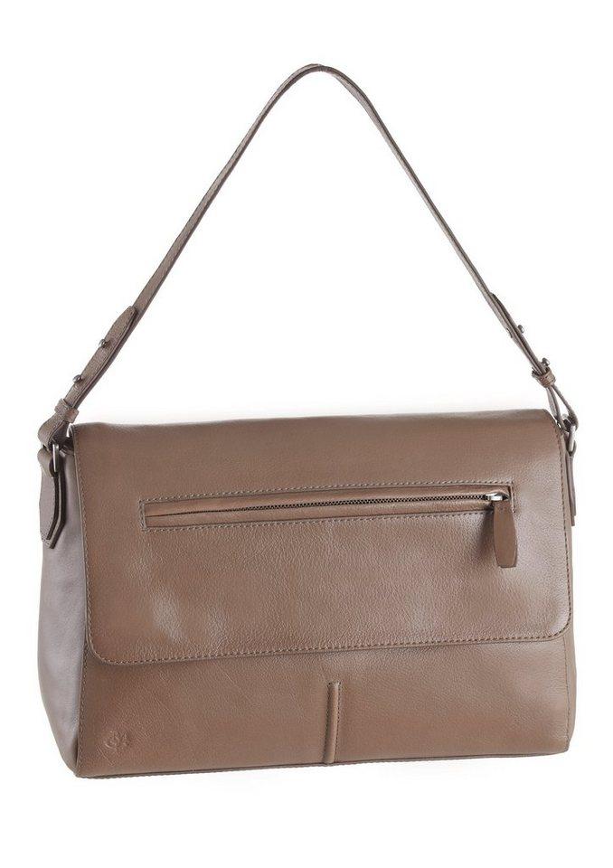 Marc O´Polo Handtasche aus Leder in taupe
