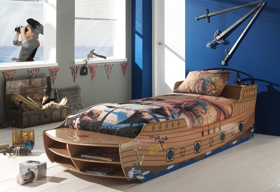 kinderbett vipack tolles piratenbootbett online kaufen otto. Black Bedroom Furniture Sets. Home Design Ideas