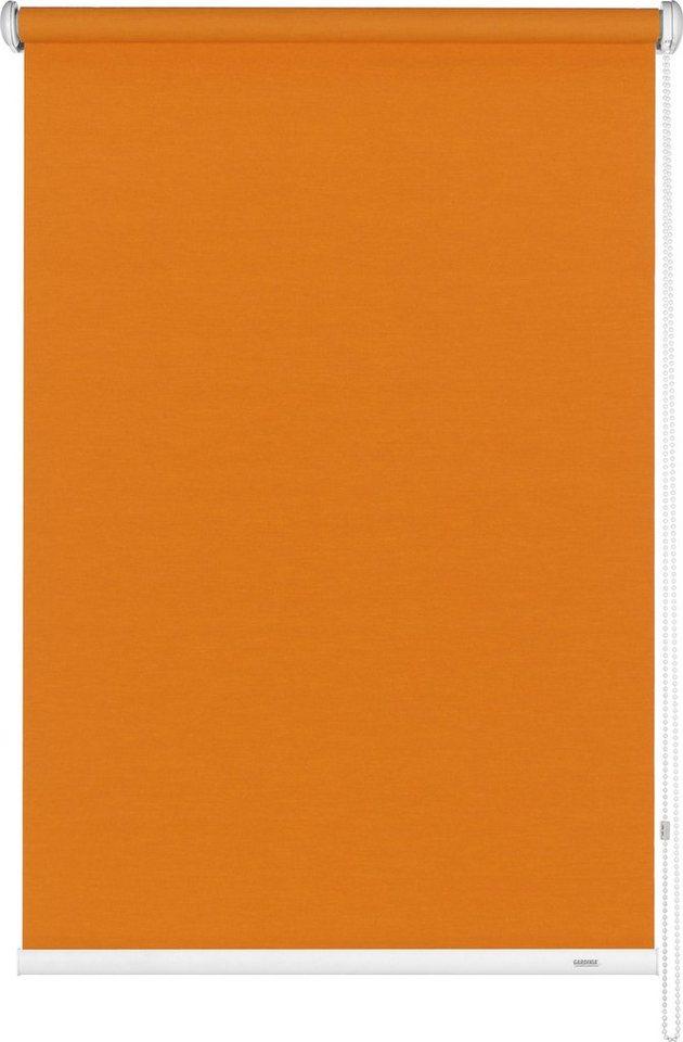 Seitenzugrollo, Gardinia, »Seitenzugrollo im Fixmaß«, Lichtschutz (1 Stck.) in orange