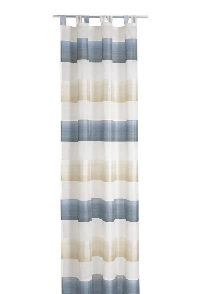 Gardine, deko trends, »Mix«, mit Schlaufen (1 Stück) in beige/blau