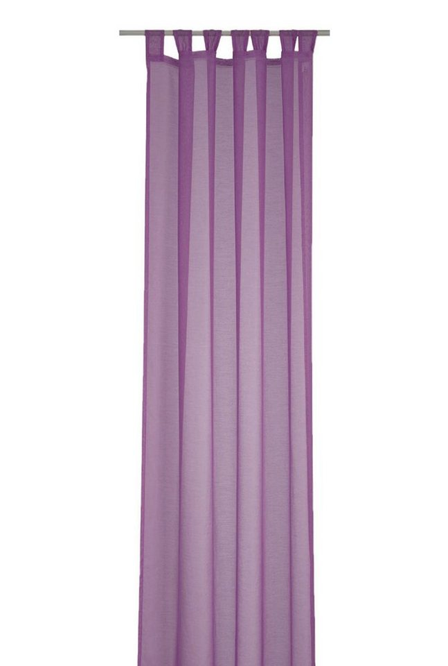 Gardine, Deko Trends, »Kos«, mit Schlaufen (1 Stück) in lila