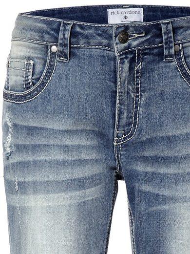 LINEA TESINI by Heine Boyfriend-Jeans mit destroyed Effekt