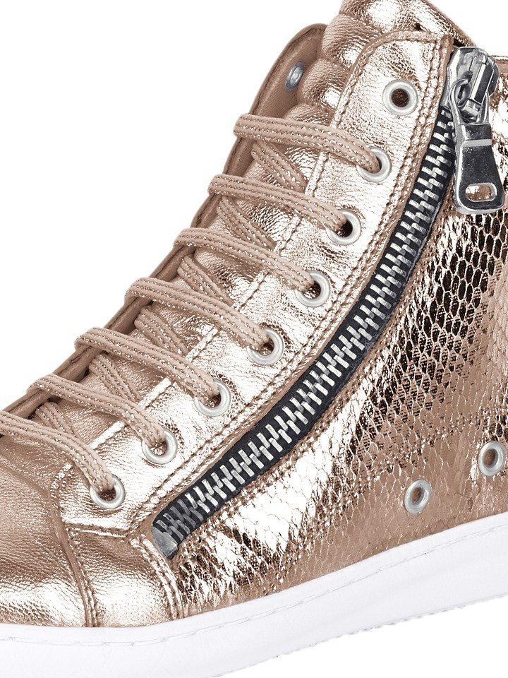 Sneaker in rosé/metallic