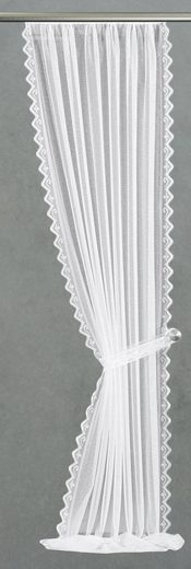Gardine »Senta«, VHG, Kräuselband (2 Stück), im Festmaß, inkl. Raffhalter