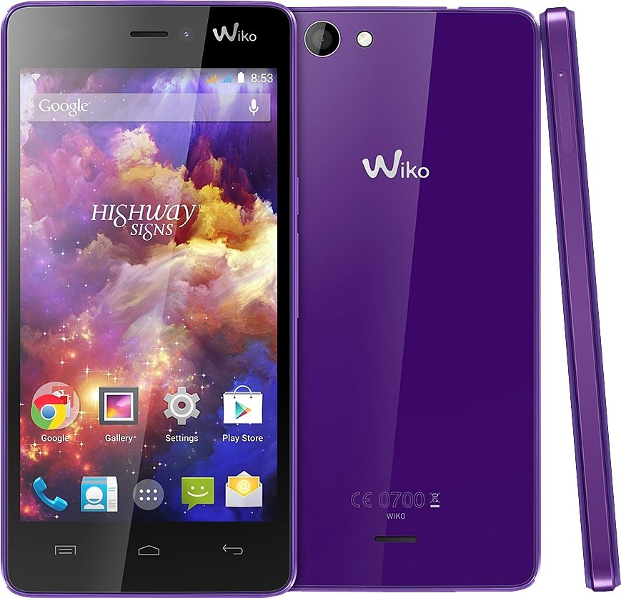 Wiko Highway Signs Smartphone, 11,9 cm (4,7 Zoll) Display, Android 4.4, 8,0 Megapixel in lila