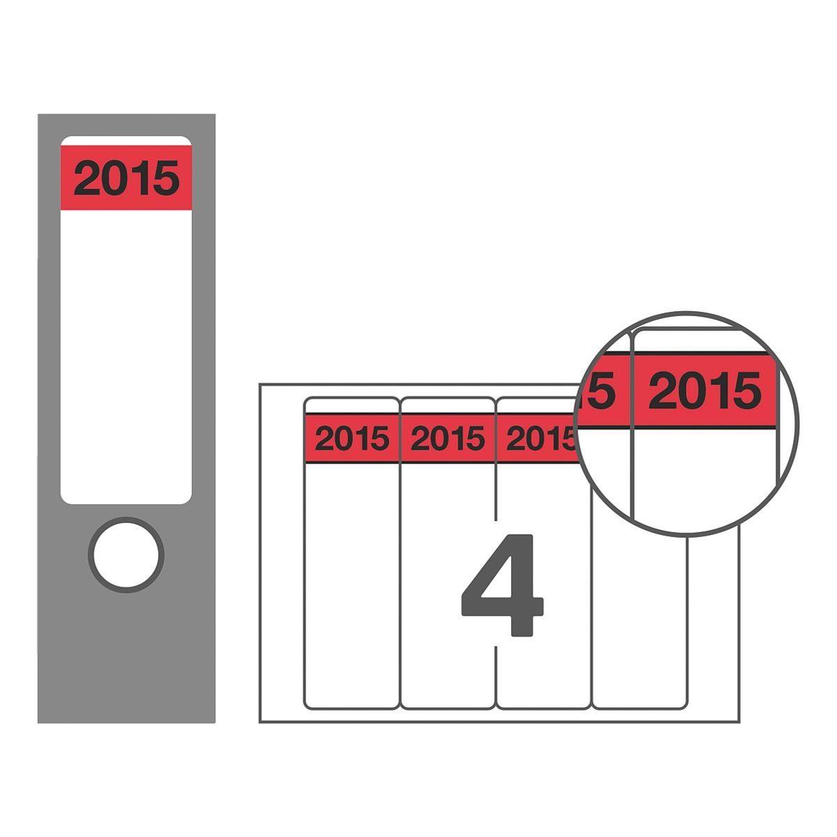 Avery Zweckform Selbstklebende Inhaltsschilder »Jahreszahlen 2015«