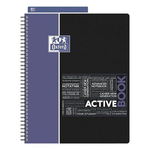 OXFORD Collegeblock A4+ kariert, holzfreies Papier »Studium Activebook«