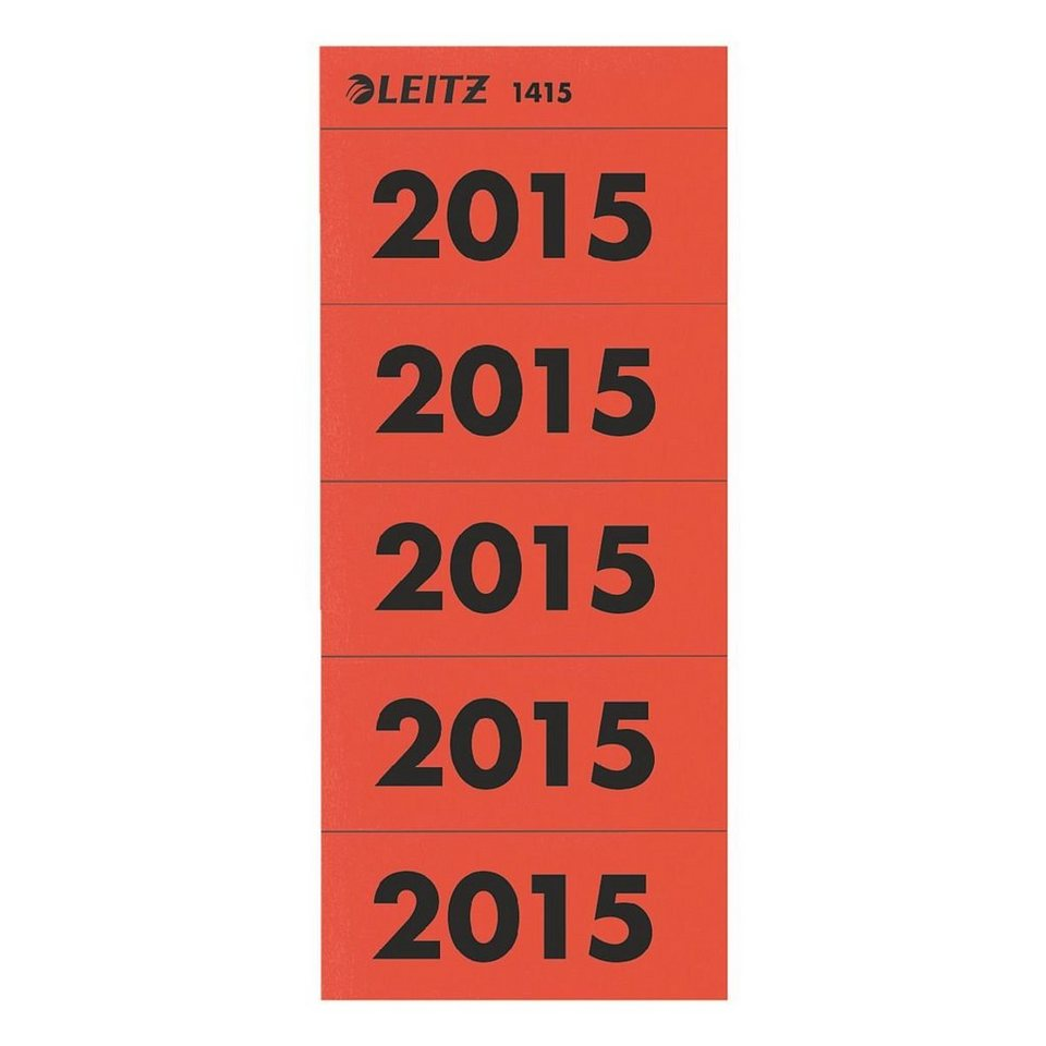 Leitz Inhaltsschilder »Jahreszahlen 2015«