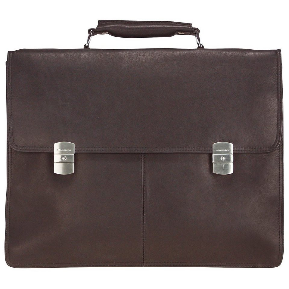 Harold's Country Aktentasche Leder 41 cm Laptopfach in braun